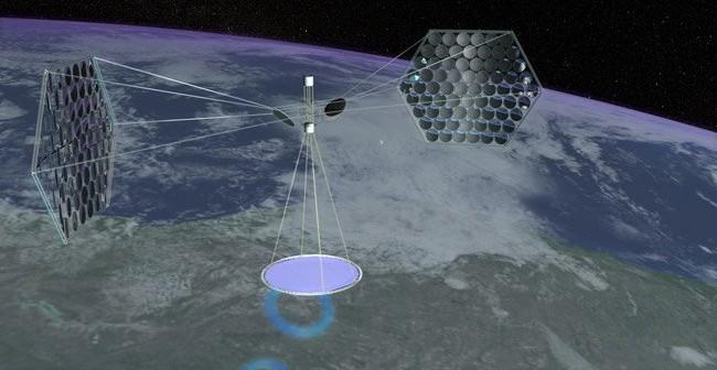 Grafika przedstawiająca generancję energii i jej transfer za pomocą satelity / Credits - Mafic Studios, Inc