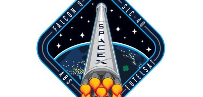 Logo startu Falcon 9 v1.1 z dwoma satelitami telekomunikacyjnymi / Credits - SpaceX