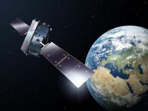 Satelita Galileo na orbicie - wizualizacja / Credit: ESA-P. Carril