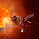 Solar Orbiter na orbicie Słońca - wizja artystyczna / Credits: EADS Astrium - Airbus D&S
