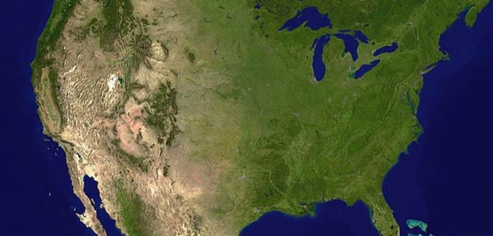 Kontynentalne USA widziane z orbity