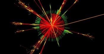 Wizualizacja symulacji zderzenia dwóch protonów w którym powstaje mikroskopijna czarna dziura