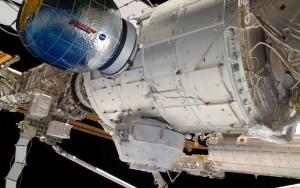 Bigelow BEAM zadokowany do ISS / Credit: NASA