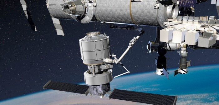 Jupiter-Exoliner dokuje do ISS / Credit: Lockheed Martin
