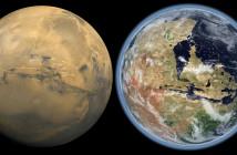 Powierzchnia Marsa teraz i w przeszłości - z wodnym oceanem
