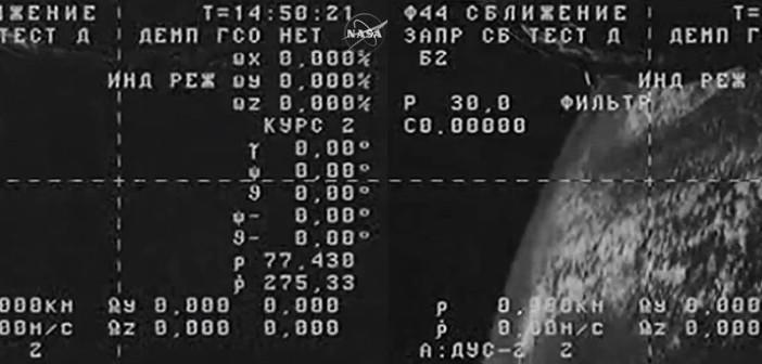 Dwa obrazy z wirującego Progressa M-27M / Credits - NASA TV