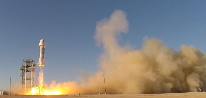 Start New Shepard - 29.04.2015 / Credits - Blue Origin