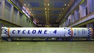 Dwa pierwsze człony rakiety Cyklon-4 / Credit: Alcantara Cyclone Space