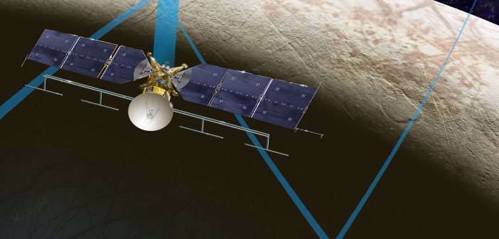 Koncept misji Europa Clipper / Credits: NASA