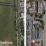 Plac w Katmandu przed i po trzęsieniu Ziemi / Credit: Airbus D&S