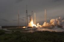 Kadr ze startu rakiety Falcon 9 z satelitą TurkmenAlem / Credits: SpaceX