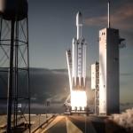 Start rakiety Falcon Heavy - wizualizacja / Credit: SpaceX