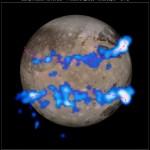 Zorze polarne na Ganimedesie widziane przez HST / Credits - NASA, ESA