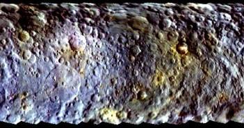 Pierwsza mapa Ceres wykonana z wykorzystaniem zdjęć z sondy Dawn / Credits - NASA/JPL-Caltech/UCLA/MPS/DLR/IDA