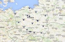 Mapa spotkań informacyjnych Galileo Masters 2015 / Credit: Blue Dot Solutions sp. z o.o., Google