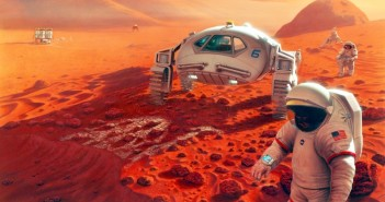 Załogowa misja na Marsa (wizja artystyczna z 1993 roku) / Credits - NASA