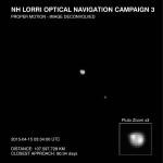 LORRI obserwuje Plutona i Charona - 15.04.2015 / Credits - NASA/JHU-APL/SwRI