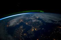 Skandynawia i Bałtyk z perspektywy ISS - początek kwietnia / Crefits - NASA