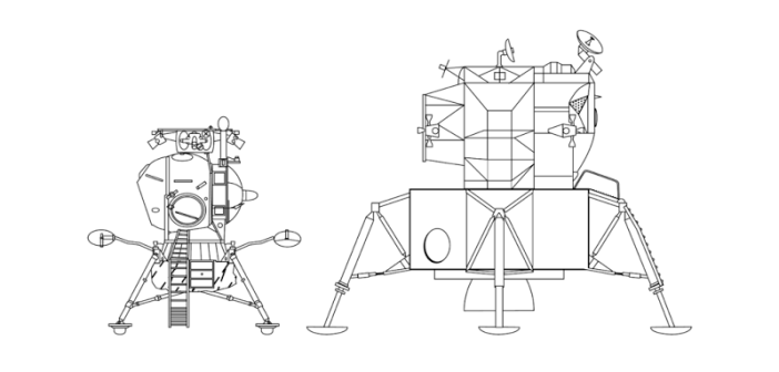 Porównanie radzieckiego LK-3 z amerykańskim LM