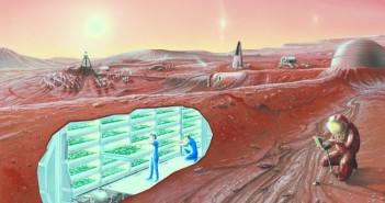 Marsjańska kolonia. (Credits: NASA)