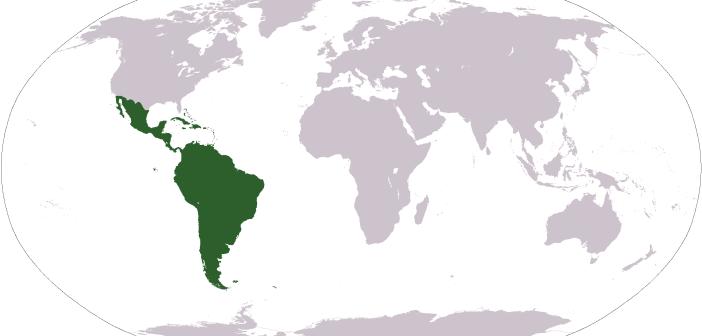 Ameryka Łacińska na mapie świata / Credit: AgainErick, domena publiczna