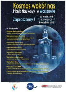 Kosmos wokół nas 2015 - plakat / Credit: AstroEdukacja, CBK PAN