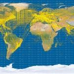 Odbiór sygnałów ADS-B przez satelitę Proba-V / Credit: SES, ESA