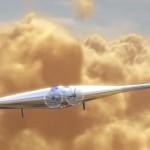 Wizualizacja drona VAMP lecącego nad wenusjańskimi chmurami / Credits - Northrop Grumman