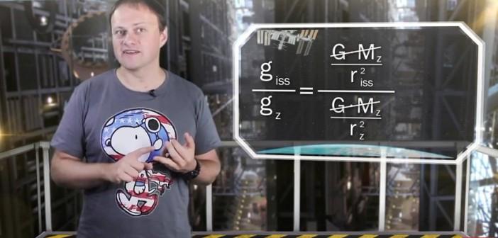 Marcin Stolarski wyjaśnia czym jest grawitacja a czym mikrograwitacja / Credits - Centrum Nauki Kopernik