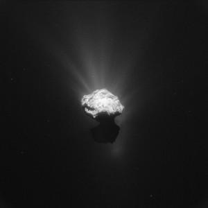 Kometa 67P obserwowana przez sondę Rosetta w dniu 7 czerwca 2015 / Credits - ESA / Rosetta / NavCam