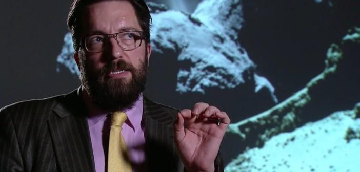 Matt Taylor udziela wywiadu dla ESA / Credits - ESA