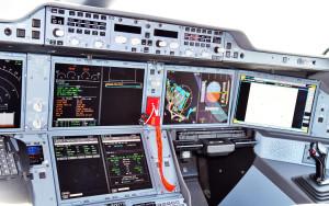 Kokpit A350 Beluga dostosowany do użytkowania EGNOS, Tuluza, 7 maja 2015 / Credit: GSA