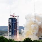 Start rakiety nośnej Długi Marsz 4B z satelitą Gaofen-8.