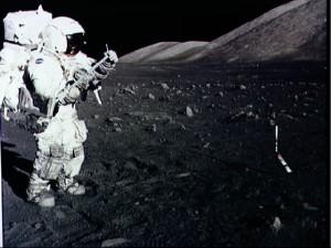 Harrison Schmitt/ Credits: NASA