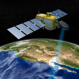 Jason-3 nad Kalifornią - wizja artystyczna / Credit: NASA