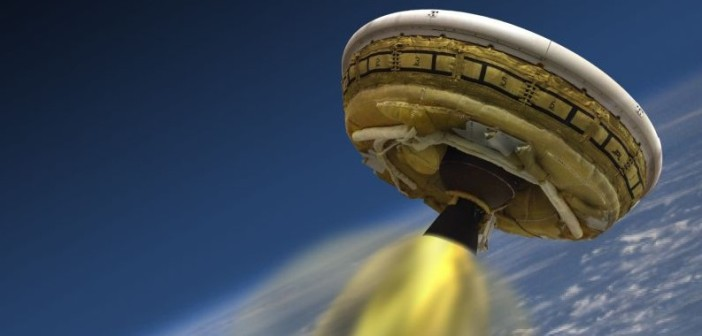 Low-Density Supersonic Decelerator. Grafika koncepcyjna. (Credits: NASA)