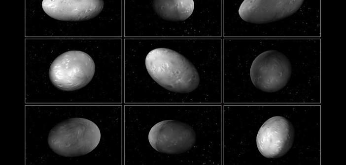 Wizja artystyczna księżyca Nix / Credits - NASA, ESA, M. Showalter (SETI), G. Bacon (STScI)
