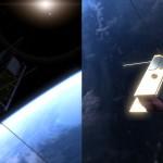 Dwa spojrzenia na PW-Sata2 z rozłożynymi panelami słonecznymi / Credits - Marcin Świetlik, PW