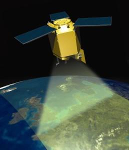 Sentinel-5 Precursor na orbicie - wizualizacja / Credit: Airbus Defence & Space