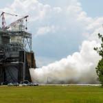 535. sekundowy test silnika RS-25, Stennis Space Centre, 16 lipca 2015 / Credit: NASA