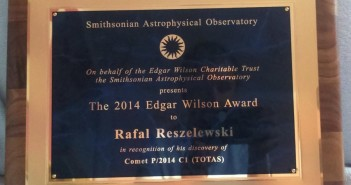 Rafał Reszelewski received the Edgar Wilson Award