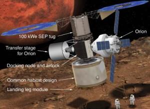 Pojazdy, które wylądowałyby na Fobosie / Credits - NASA