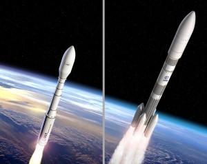 Rakiety Vega C i Ariane 6 / Credits - ESA–J. Huart and D. Ducros, 2015