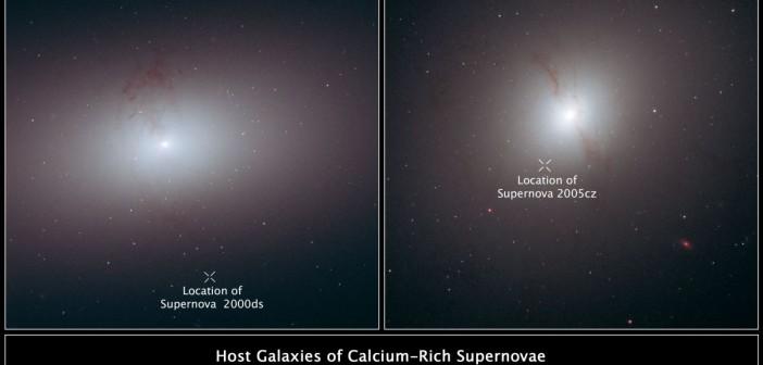 Supernowe poza swoimi macierzystymi galaktykami uchwycone przez teleskop Hubble'a. Credits: NASA, ESA, and R. Foley (University of Illinois)