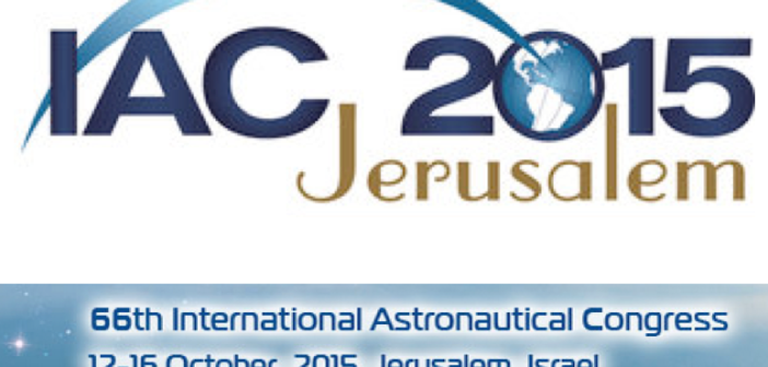 The International Astronautical Congress will be held in Jerusalem on the 12-16 October 2015 / IAF