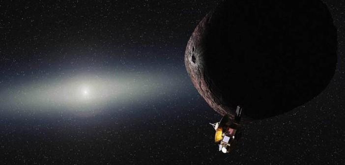 Wizja przelotu sondy New Horizons obok PT1 (2014 MU69) / Credits - NASA/JHUAPL/SwRI/Alex Parker