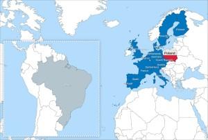 Państwa członkowskie ESO (wraz ze stowarzyszoną Brazylią) / Credits - ESO