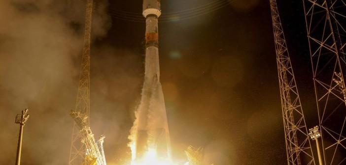 Start Sojuza-STB z dwoma satelitami Galileo / Credits - ESA