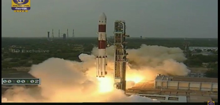 Moment startu PSLV-XL / Credits - DoordarshanNational