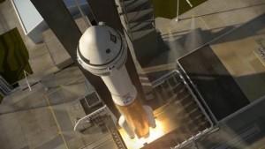 Wcześniejsza konfiguracja rakiety Atlas 5 i CST - bez aeroskirt (zmiana nastąpiła w październiku 2016) / Credits - ULA, Boeing